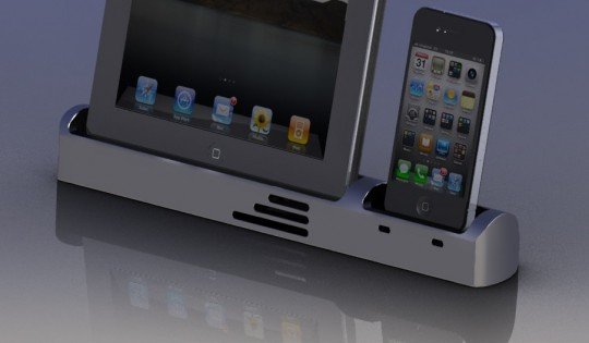 Duplex Billet Dock for your iPad and iPhone