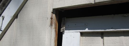 How to 'fix' a shed door.