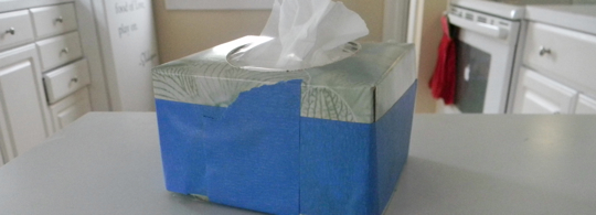 Half a box? Don't you like my tissues?